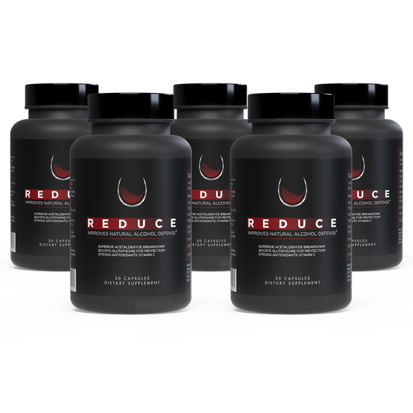 Reduce, Alcohol Defense & Liver Support - 5 Bottles
