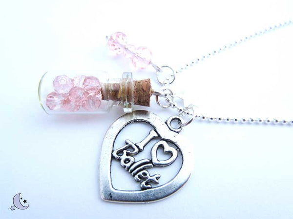 Mini bottle pendant. Bottle charm
