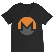 Laden Sie das Bild in den Galerie-Viewer, 👕 Monero Logo Premium V-Neck T-Shirt - Best Bitcoin Shirt Shop für Deutschland, Österreich, Schweiz. Top Qualität, 3-5 Tage geliefert und Krypto, Paypal Zahlung