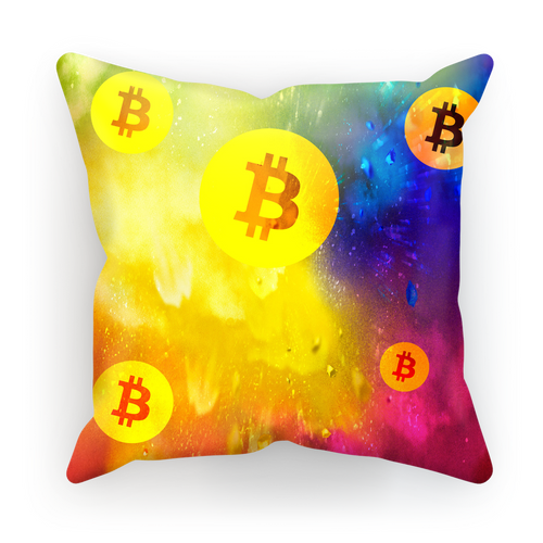 👕 Bitcoin Colourful Sublimation Cushion Cover - Best Bitcoin Shirt Shop für Deutschland, Österreich, Schweiz. Top Qualität, 3-5 Tage geliefert und Krypto, Paypal Zahlung