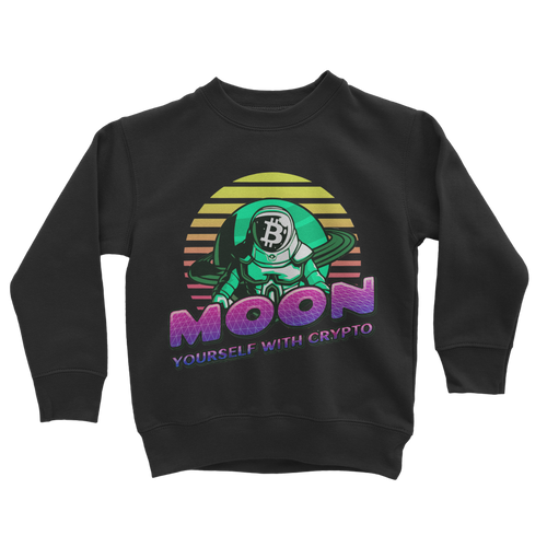 👕 Moon yourself with crypto Classic Kids Sweatshirt - Best Bitcoin Shirt Shop für Deutschland, Österreich, Schweiz. Top Qualität, 3-5 Tage geliefert und Krypto, Paypal Zahlung