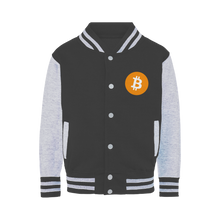 Laden Sie das Bild in den Galerie-Viewer, 👕 Bitcoin Logo Varsity Jacket - Best Bitcoin Shirt Shop für Deutschland, Österreich, Schweiz. Top Qualität, 3-5 Tage geliefert und Krypto, Paypal Zahlung