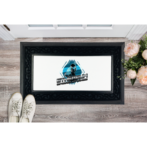👕 Ethereum not your keys Sublimation Heavy Duty Door Mat - Best Bitcoin Shirt Shop für Deutschland, Österreich, Schweiz. Top Qualität, 3-5 Tage geliefert und Krypto, Paypal Zahlung
