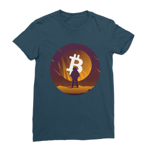 👕 Bitcoin to the moon Classic Women's T-Shirt - Best Bitcoin Shirt Shop für Deutschland, Österreich, Schweiz. Top Qualität, 3-5 Tage geliefert und Krypto, Paypal Zahlung