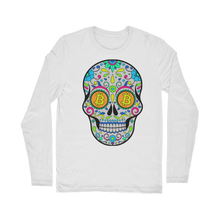 Load the picture into the gallery viewer, 👕 Bitcoin Sugar Skull Classic Long Sleeve T-Shirt - Best Bitcoin Shirt Shop für Deutschland, Österreich, Schweiz. Top Qualität, 3-5 Tage geliefert und Krypto, Paypal Zahlung