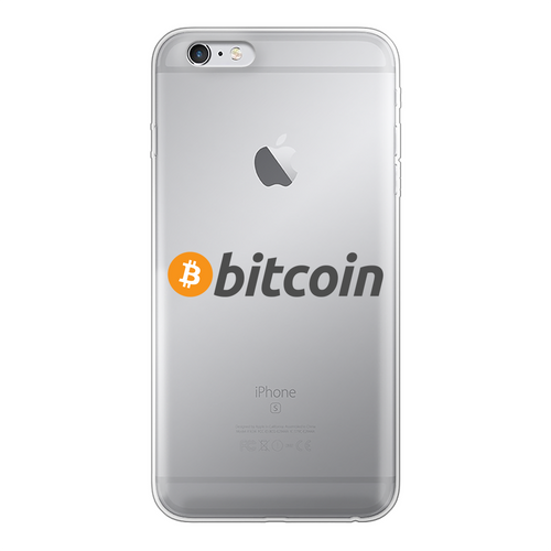 👕 Bitcoin Text Logo Back Printed Transparent Soft Phone Case - Best Bitcoin Shirt Shop für Deutschland, Österreich, Schweiz. Top Qualität, 3-5 Tage geliefert und Krypto, Paypal Zahlung