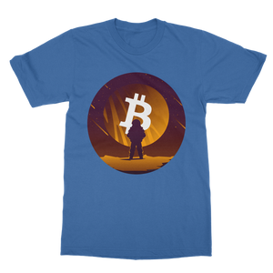 👕 Bitcoin to the moon Classic Adult T-Shirt - Best Bitcoin Shirt Shop für Deutschland, Österreich, Schweiz. Top Qualität, 3-5 Tage geliefert und Krypto, Paypal Zahlung