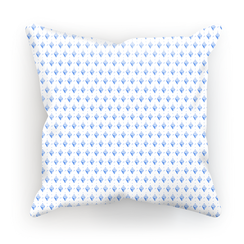 👕 Blaue Ethereum Symbole Sublimation Cushion Cover - Best Bitcoin Shirt Shop für Deutschland, Österreich, Schweiz. Top Qualität, 3-5 Tage geliefert und Krypto, Paypal Zahlung