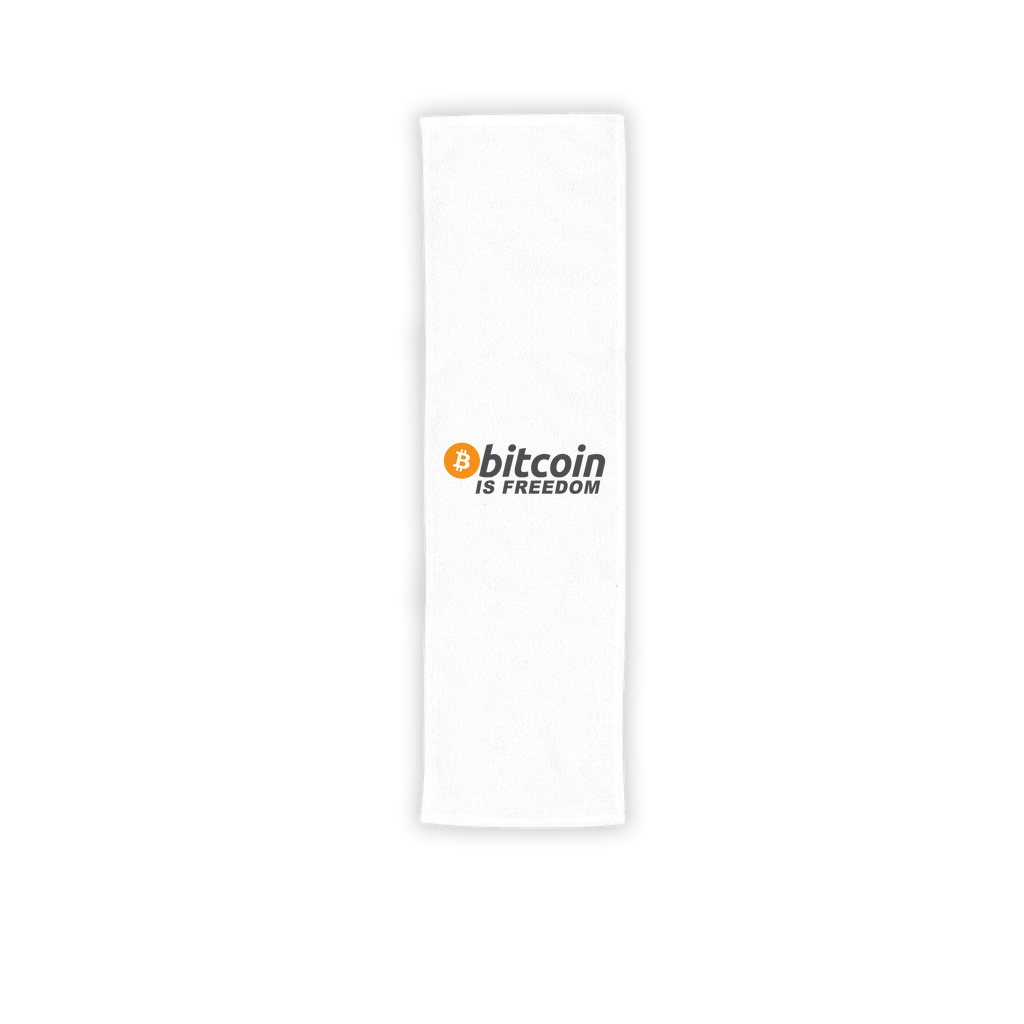 👕 Bitcoin is Freedom Sublimation Sport Towel - Best Bitcoin Shirt Shop für Deutschland, Österreich, Schweiz. Top Qualität, 3-5 Tage geliefert und Krypto, Paypal Zahlung