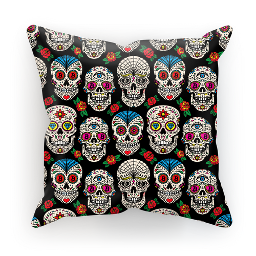 👕 Bitcoin Sugar Skull Sublimation Cushion Cover - Best Bitcoin Shirt Shop für Deutschland, Österreich, Schweiz. Top Qualität, 3-5 Tage geliefert und Krypto, Paypal Zahlung