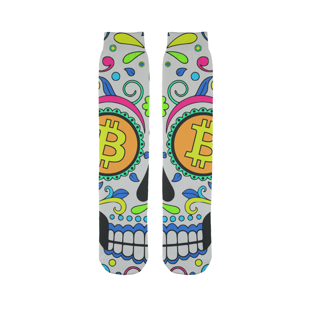 👕 Bitcoin Sugar Skull Sublimation Tube Sock - Best Bitcoin Shirt Shop für Deutschland, Österreich, Schweiz. Top Qualität, 3-5 Tage geliefert und Krypto, Paypal Zahlung