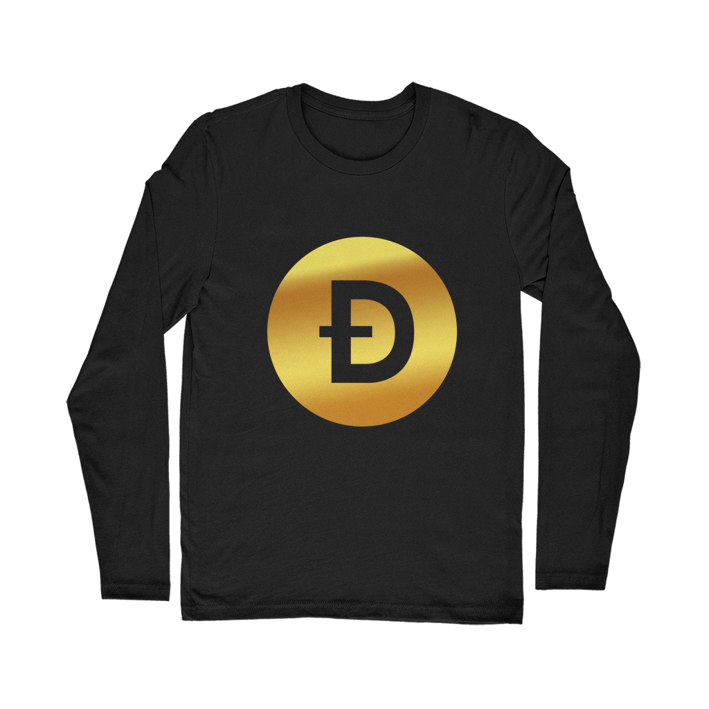 👕 Dogecoin Logo Crypto Merch Classic Long Sleeve T-Shirt - Best Bitcoin Shirt Shop für Deutschland, Österreich, Schweiz. Top Qualität, 3-5 Tage geliefert und Krypto, Paypal Zahlung