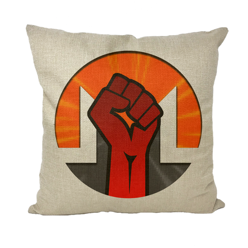 👕 Monero Revolution Throw Pillows - Best Bitcoin Shirt Shop für Deutschland, Österreich, Schweiz. Top Qualität, 3-5 Tage geliefert und Krypto, Paypal Zahlung