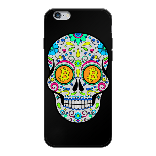 👕 Bitcoin Sugar Skull Back Printed Black Soft Phone Case - Best Bitcoin Shirt Shop für Deutschland, Österreich, Schweiz. Top Qualität, 3-5 Tage geliefert und Krypto, Paypal Zahlung