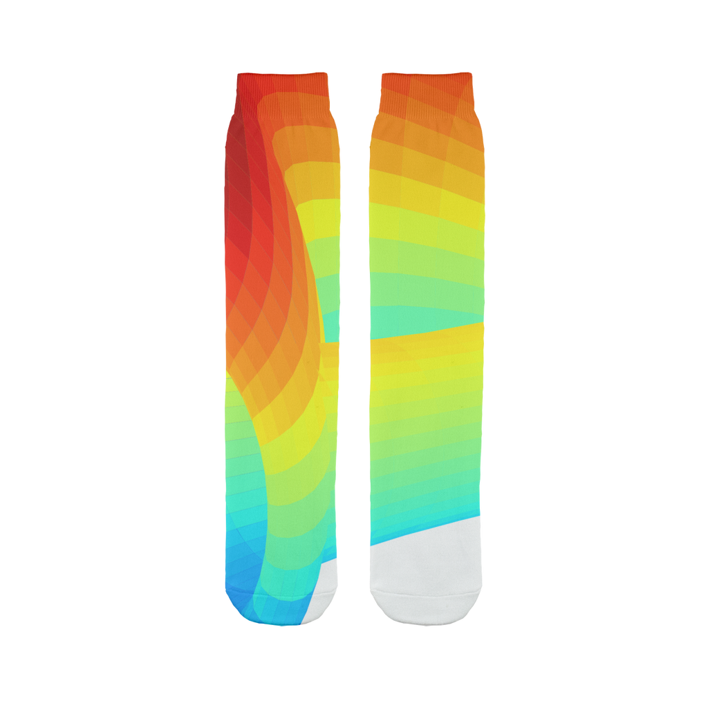 👕 Curve DAO Token CRV Logo Sublimation Tube Sock - Best Bitcoin Shirt Shop für Deutschland, Österreich, Schweiz. Top Qualität, 3-5 Tage geliefert und Krypto, Paypal Zahlung