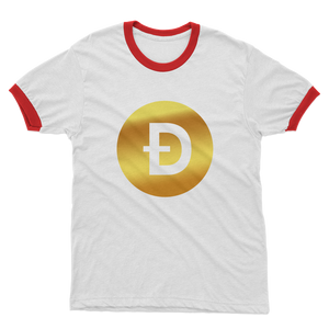 👕 Dogecoin Logo Crypto Merch Adult Ringer T-Shirt - Best Bitcoin Shirt Shop für Deutschland, Österreich, Schweiz. Top Qualität, 3-5 Tage geliefert und Krypto, Paypal Zahlung