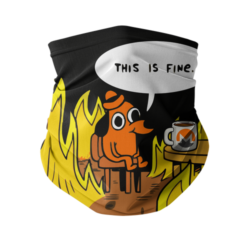 👕 This is fine Monero Sublimation Neck Gaiter - Best Bitcoin Shirt Shop für Deutschland, Österreich, Schweiz. Top Qualität, 3-5 Tage geliefert und Krypto, Paypal Zahlung