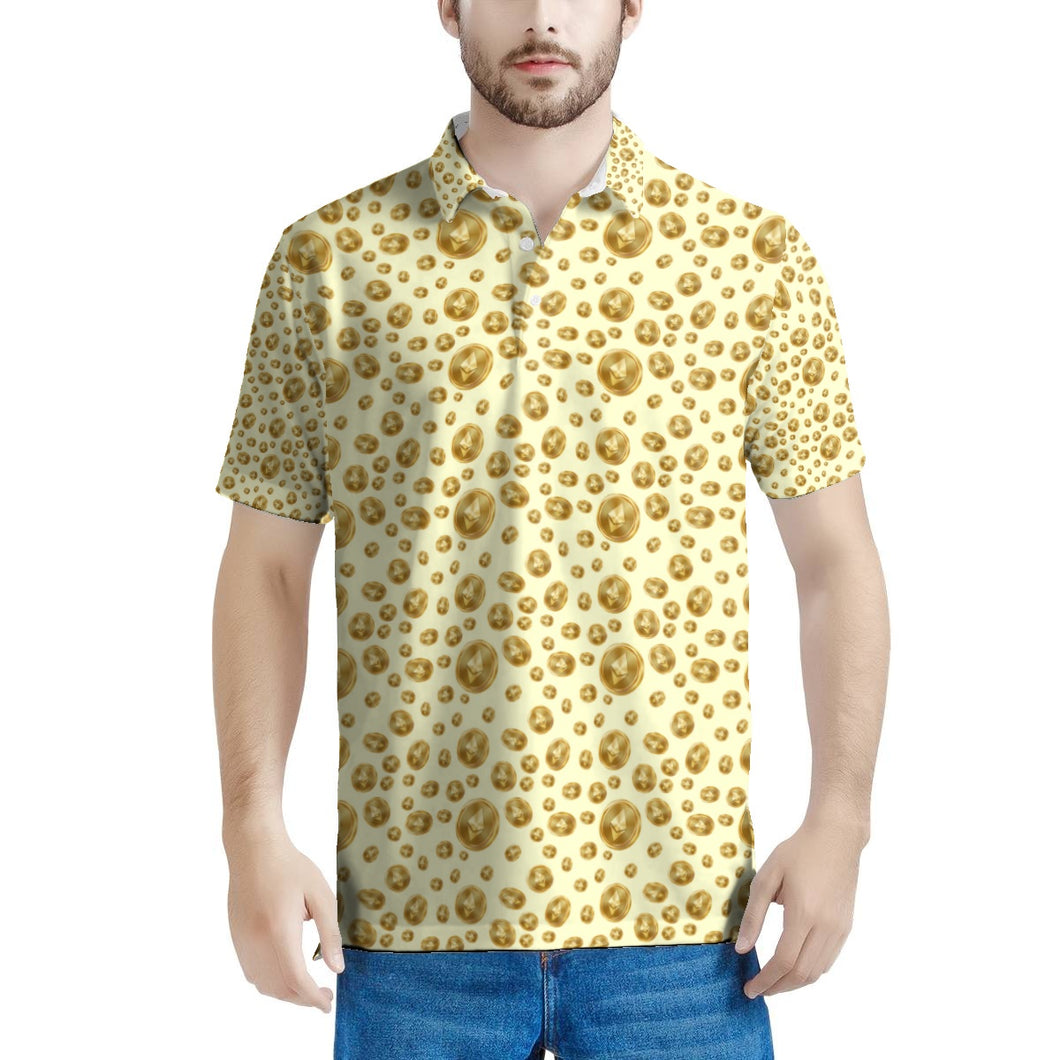 👕 Men's All Over Print Polo Shirt - Best Bitcoin Shirt Shop für Deutschland, Österreich, Schweiz. Top Qualität, 3-5 Tage geliefert und Krypto, Paypal Zahlung