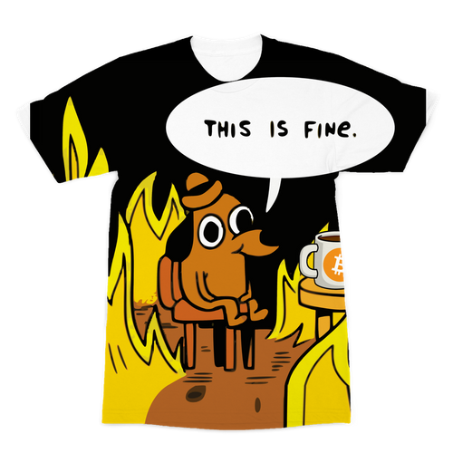 👕 This is Fine Bitcoin Premium Sublimation Adult T-Shirt - Best Bitcoin Shirt Shop für Deutschland, Österreich, Schweiz. Top Qualität, 3-5 Tage geliefert und Krypto, Paypal Zahlung