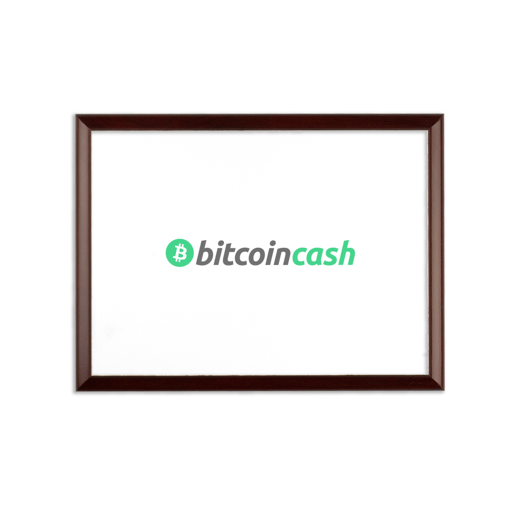 👕 Bitcoin Cash BCH Merch Sublimation Wall Plaque - Best Bitcoin Shirt Shop für Deutschland, Österreich, Schweiz. Top Qualität, 3-5 Tage geliefert und Krypto, Paypal Zahlung