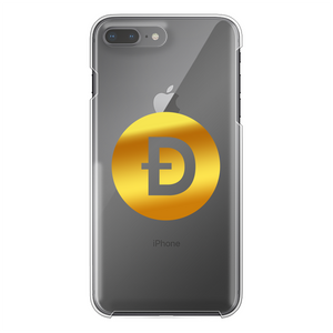 👕 Dogecoin Logo Crypto Merch Back Printed Transparent Hard Phone Case - Best Bitcoin Shirt Shop für Deutschland, Österreich, Schweiz. Top Qualität, 3-5 Tage geliefert und Krypto, Paypal Zahlung