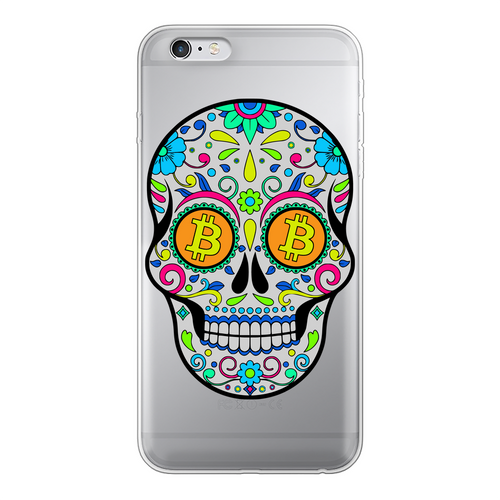 👕 Bitcoin Sugar Skull Back Printed Transparent Soft Phone Case - Best Bitcoin Shirt Shop für Deutschland, Österreich, Schweiz. Top Qualität, 3-5 Tage geliefert und Krypto, Paypal Zahlung