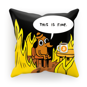 👕 This is Fine Bitcoin Sublimation Cushion Cover - Best Bitcoin Shirt Shop für Deutschland, Österreich, Schweiz. Top Qualität, 3-5 Tage geliefert und Krypto, Paypal Zahlung
