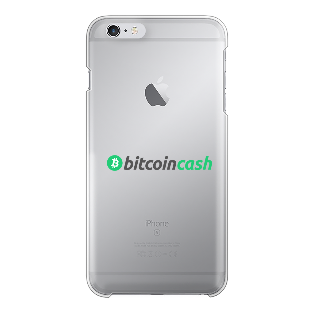 👕 Bitcoin Cash BCH Merch Back Printed Transparent Hard Phone Case - Best Bitcoin Shirt Shop für Deutschland, Österreich, Schweiz. Top Qualität, 3-5 Tage geliefert und Krypto, Paypal Zahlung