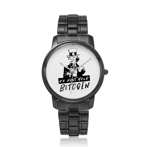 We want your Bitcoin Black - Bitcoin Shirt Shop
