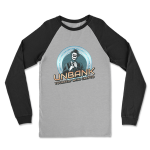 👕 Unbank yourself Classic Raglan Long Sleeve Shirt - Best Bitcoin Shirt Shop für Deutschland, Österreich, Schweiz. Top Qualität, 3-5 Tage geliefert und Krypto, Paypal Zahlung