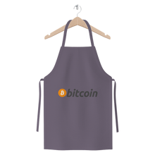 Laden Sie das Bild in den Galerie-Viewer, 👕 Bitcoin Text Logo Premium Jersey Apron - Best Bitcoin Shirt Shop für Deutschland, Österreich, Schweiz. Top Qualität, 3-5 Tage geliefert und Krypto, Paypal Zahlung