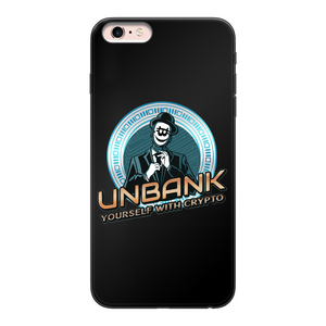 👕 Unbank yourself Back Printed Black Soft Phone Case - Best Bitcoin Shirt Shop für Deutschland, Österreich, Schweiz. Top Qualität, 3-5 Tage geliefert und Krypto, Paypal Zahlung