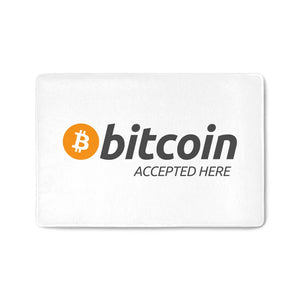 Fussmatte Bitcoin accepted here