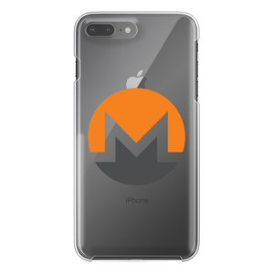 👕 Monero Logo Back Printed Transparent Hard Phone Case - Best Bitcoin Shirt Shop für Deutschland, Österreich, Schweiz. Top Qualität, 3-5 Tage geliefert und Krypto, Paypal Zahlung