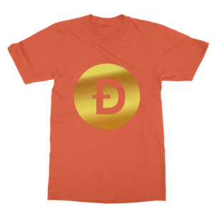 👕 Dogecoin Logo Crypto Merch Classic Adult T-Shirt - Best Bitcoin Shirt Shop für Deutschland, Österreich, Schweiz. Top Qualität, 3-5 Tage geliefert und Krypto, Paypal Zahlung
