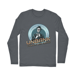 👕 Unbank yourself Classic Long Sleeve T-Shirt - Best Bitcoin Shirt Shop für Deutschland, Österreich, Schweiz. Top Qualität, 3-5 Tage geliefert und Krypto, Paypal Zahlung