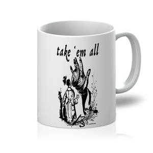 👕 Take em all 11oz (311g) Bitcoin Tasse take em all - Best Bitcoin Shirt Shop für Deutschland, Österreich, Schweiz. Top Qualität, 3-5 Tage geliefert und Krypto, Paypal Zahlung