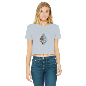 👕 Afrithereum African Ethereum Classic Women's Cropped Raw Edge T-Shirt - Best Bitcoin Shirt Shop für Deutschland, Österreich, Schweiz. Top Qualität, 3-5 Tage geliefert und Krypto, Paypal Zahlung
