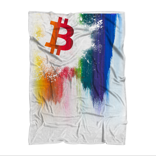 👕 Bitcoin Splash painted Premium Sublimation Adult Blanket - Best Bitcoin Shirt Shop für Deutschland, Österreich, Schweiz. Top Qualität, 3-5 Tage geliefert und Krypto, Paypal Zahlung