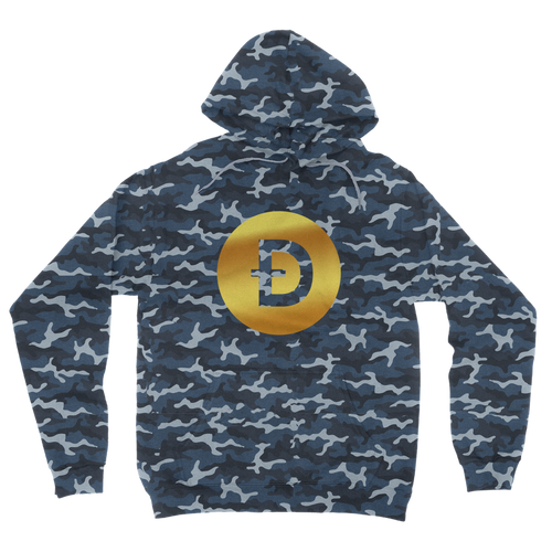 👕 Dogecoin Logo Crypto Merch Camouflage Adult Hoodie - Best Bitcoin Shirt Shop für Deutschland, Österreich, Schweiz. Top Qualität, 3-5 Tage geliefert und Krypto, Paypal Zahlung
