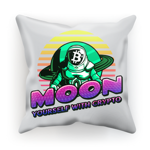 👕 Moon yourself with crypto Sublimation Cushion Cover - Best Bitcoin Shirt Shop für Deutschland, Österreich, Schweiz. Top Qualität, 3-5 Tage geliefert und Krypto, Paypal Zahlung