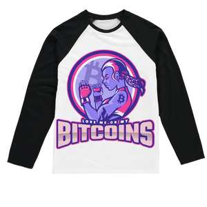 👕 Bitcoin Boxergirl Sublimation Baseball Long Sleeve T-Shirt - Best Bitcoin Shirt Shop für Deutschland, Österreich, Schweiz. Top Qualität, 3-5 Tage geliefert und Krypto, Paypal Zahlung