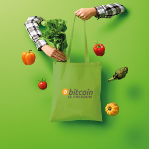 👕 Bitcoin is Freedom Shopper Tote Bag - Best Bitcoin Shirt Shop für Deutschland, Österreich, Schweiz. Top Qualität, 3-5 Tage geliefert und Krypto, Paypal Zahlung