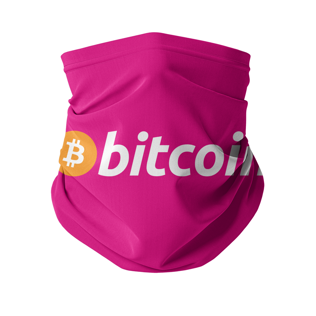 👕 Bitcoin Text Logo Sublimation Neck Gaiter - Best Bitcoin Shirt Shop für Deutschland, Österreich, Schweiz. Top Qualität, 3-5 Tage geliefert und Krypto, Paypal Zahlung