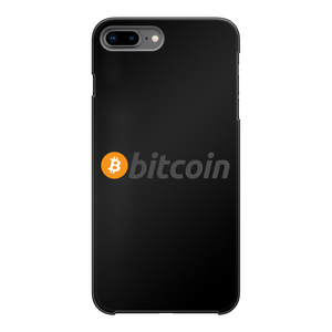 👕 Bitcoin Text Logo Back Printed Black Hard Phone Case - Best Bitcoin Shirt Shop für Deutschland, Österreich, Schweiz. Top Qualität, 3-5 Tage geliefert und Krypto, Paypal Zahlung