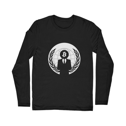 👕 Bitcoin Anonymous Classic Long Sleeve T-Shirt - Best Bitcoin Shirt Shop für Deutschland, Österreich, Schweiz. Top Qualität, 3-5 Tage geliefert und Krypto, Paypal Zahlung