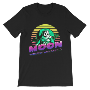 👕 Moon yourself with crypto Classic Kids T-Shirt - Best Bitcoin Shirt Shop für Deutschland, Österreich, Schweiz. Top Qualität, 3-5 Tage geliefert und Krypto, Paypal Zahlung