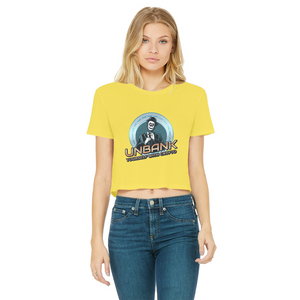 👕 Unbank yourself Classic Women's Cropped Raw Edge T-Shirt - Best Bitcoin Shirt Shop für Deutschland, Österreich, Schweiz. Top Qualität, 3-5 Tage geliefert und Krypto, Paypal Zahlung