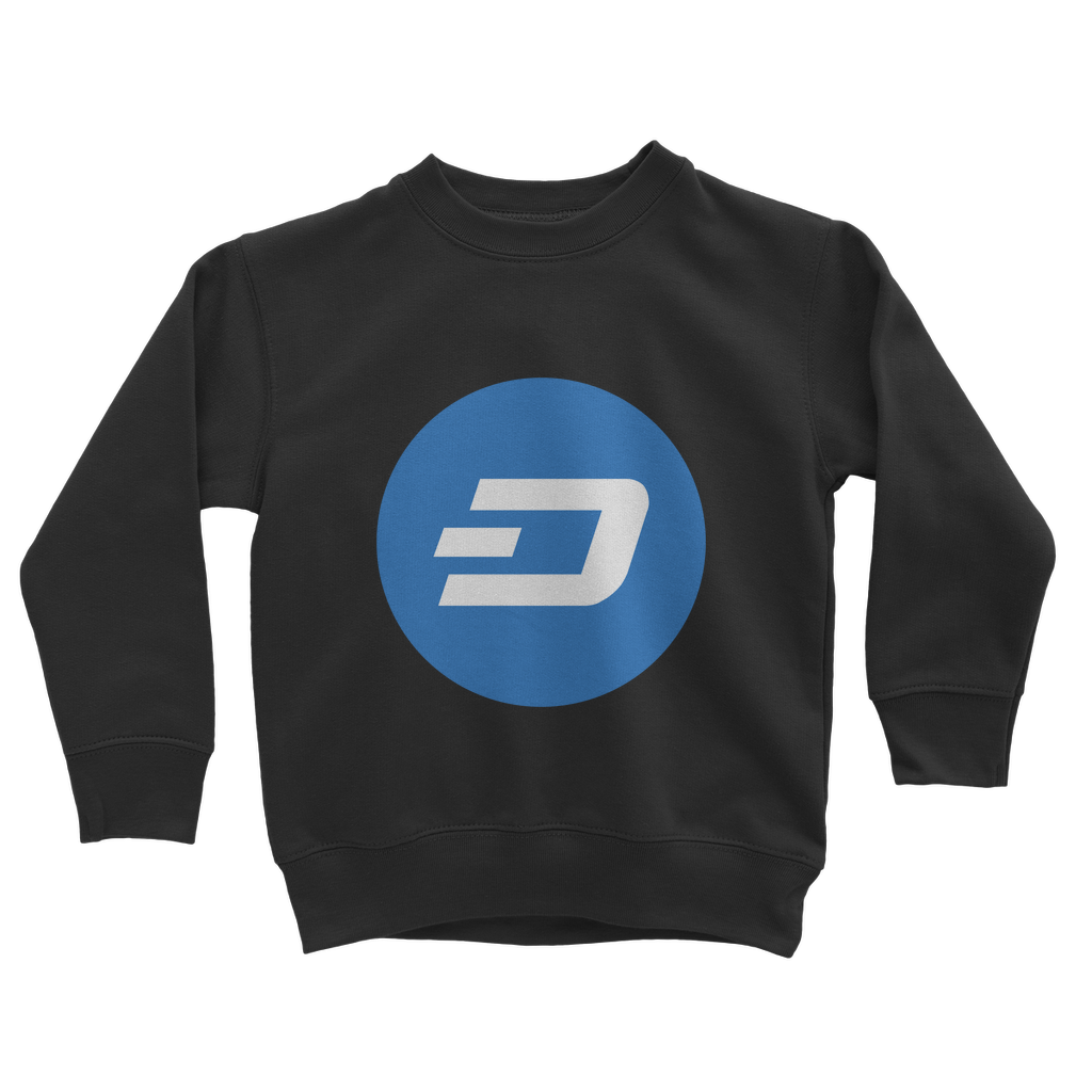 👕 Dash Logo Merch Crypto Classic Kids Sweatshirt - Best Bitcoin Shirt Shop für Deutschland, Österreich, Schweiz. Top Qualität, 3-5 Tage geliefert und Krypto, Paypal Zahlung