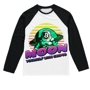 👕 Moon yourself with crypto Sublimation Baseball Long Sleeve T-Shirt - Best Bitcoin Shirt Shop für Deutschland, Österreich, Schweiz. Top Qualität, 3-5 Tage geliefert und Krypto, Paypal Zahlung